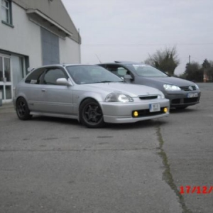 silver type r civic B18C