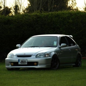 silver type r civic